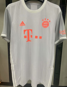 2020/21 Bayern 1:1 Quality Away Grey Fans Soccer Jersey