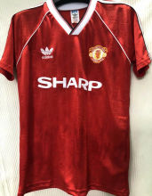 1988-1990 Man Utd Home Red Retro Soccer Jersey