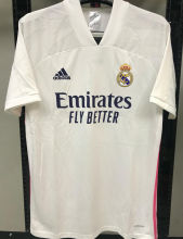2020/21 RM 1:1 Quality Home White Fans Soccer Jersey
