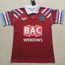 1991/92 West Ham Home Retro Soccer Jersey