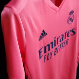 2020/21 RM 1:1 Quality Away Pink Fans Soccer Jersey