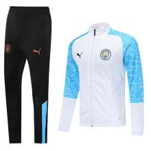 2020/21 Man City White Jacket Tracksuit