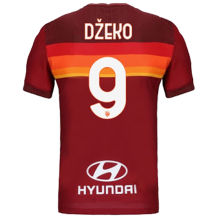 Džeko #9 AS RM 1:1 Home Red Fans Soccer Jersey 2020/21