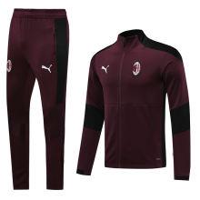 2020/21 AC Milan Purplish Red Jacket Tracksuit