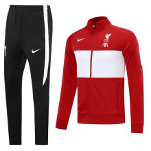 2020/21 Liverpool Red And White Jacket Tracksuit