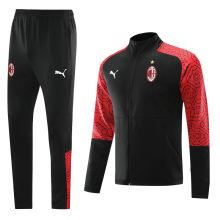 2020/21 AC Milan Black Jacket Tracksuit