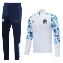 2020/21 Marseille White Jacket Tracksuit