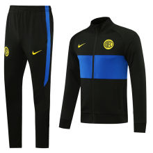 2020/21 Inter Milan Black And Blue Jacket Tracksuit