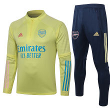 2020/21 Arsenal Light Yellow Sweater Tracksuit