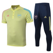 2020/21 Arsenal Light Yellow Polo Tracksuit