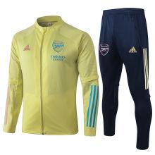 2020/21 Arsenal Light Yellow Jacket Tracksuit