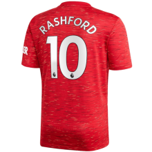 RASHFORD #10 Man Utd 1:1 Home Fans Soccer Jersey 2020/21(League Font)