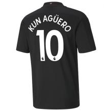 KUN AGUERO #10 Man City 1:1 Away Fans Soccer Jersey 2020/21(League Font)