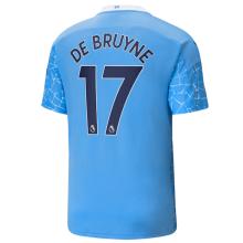 DE BRUYNE #17 Man City 1:1 Home Fans Soccer Jersey 2020/21(League Font)