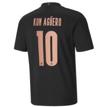 KUN AGUERO #10 Man City 1:1 Away Fans Soccer Jersey 2020/21(UCL Font 欧冠字体)