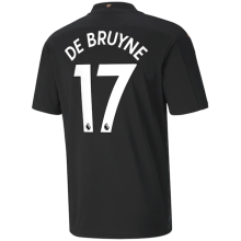 DE BRUYNE #17 Man City 1:1 Away Fans Soccer Jersey 2020/21(League Font)