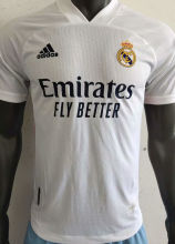 2020/21 RM Home White Player Version Soccer Jersey
