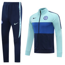 2020/21 Chelsea Sky Blue Jacket Tracksuit Full Sets