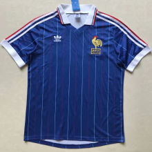 1982 France Home Blue Retro Soccer Jersey