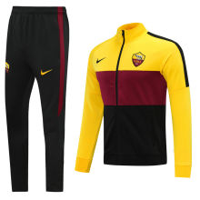 2020/21 AS RM Black Red Yellow Jacket Tracksuit