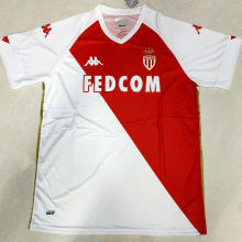 2020/21 Monaco Home Red And White Fans Soccer Jersey