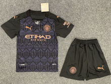 2020/21 Man City Away Black Kids Soccer Jersey