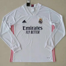 2020/21 RM Home White Long Sleeve Soccer Jersey