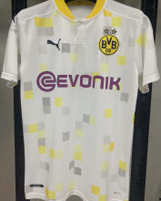 2020/21 BVB 1:1 Quality Third White Fans Soccer Jersey