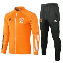 2020/21 Man Utd Orange Jacket Tracksuit