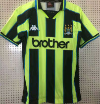 1998/99 Man City Green Retro Soccer Jersey