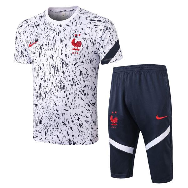 2020/21 France White Training Short Tracksuit
