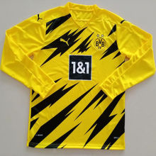 2020/21 Dortmund Home Yellow Long Sleeve Soccer Jersey