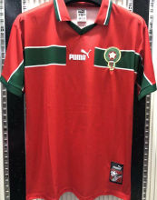 1998 Morocco Home Red Retro Soccer Jersey