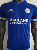 2020/21 Leicester City Home Blue Player Soccer Jersey