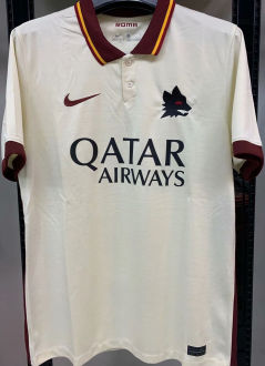 2020/21 Roma 1:1 Quality Away Grey Fans Soccer Jersey