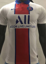 2020/21 PSG Away White Player Version Soccer Jersey