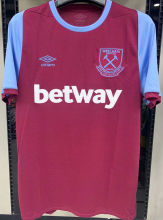 2020/21 West Ham 1:1 Quality Home Fans Soccer Jersey