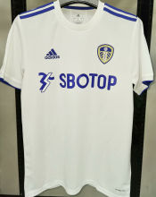2020/21 Leeds United 1:1 Quality Home White Fans Soccer Jersey