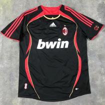 2006-07 AC Milan Away Black Retro Soccer Jersey