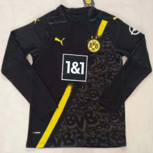 2020/21 Dortmund Away Black Long Sleeve Soccer Jersey