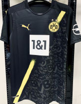 2020/21 BVB 1:1 Quality Away Black Fans Soccer Jersey