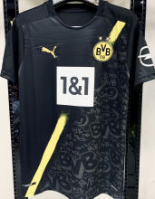 2020/21 BVB 1:1 Quality Away Black Fans Soccer Jersey