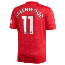 GREEN WOOD #11 Man Utd 1:1 Home Fans Soccer Jersey 2020/21(League Font联赛字体)
