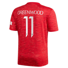 GREEN WOOD #11 Man Utd 1:1 Home Fans Soccer Jersey 2020/21(UCL Font 欧冠字体)