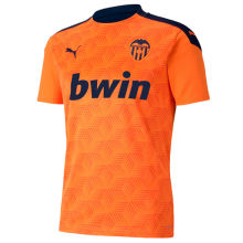 2020/21 Valencia Away Orange Fans Soccer Jersey