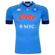 2020/21 Napoli Home Blue Fans Soccer Jersey有胸前圆环