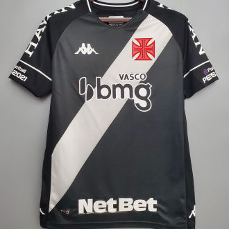 2020/21 Vasco 1:1 Quality Home Black Fans Soccer Jersey ALL AD 全广告