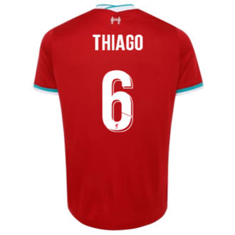 THIAGO #6 Liverpool 1:1 Home Fans Soccer Jersey 2020/21(UCL Font 欧冠字体)