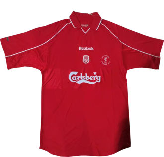 2001 Liverpool Home UEFA Cup Final Retro Soccer Jersey
