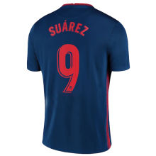 SUAREZ #9 Atletico 1:1 Away Fans Soccer Jersey 2020/21